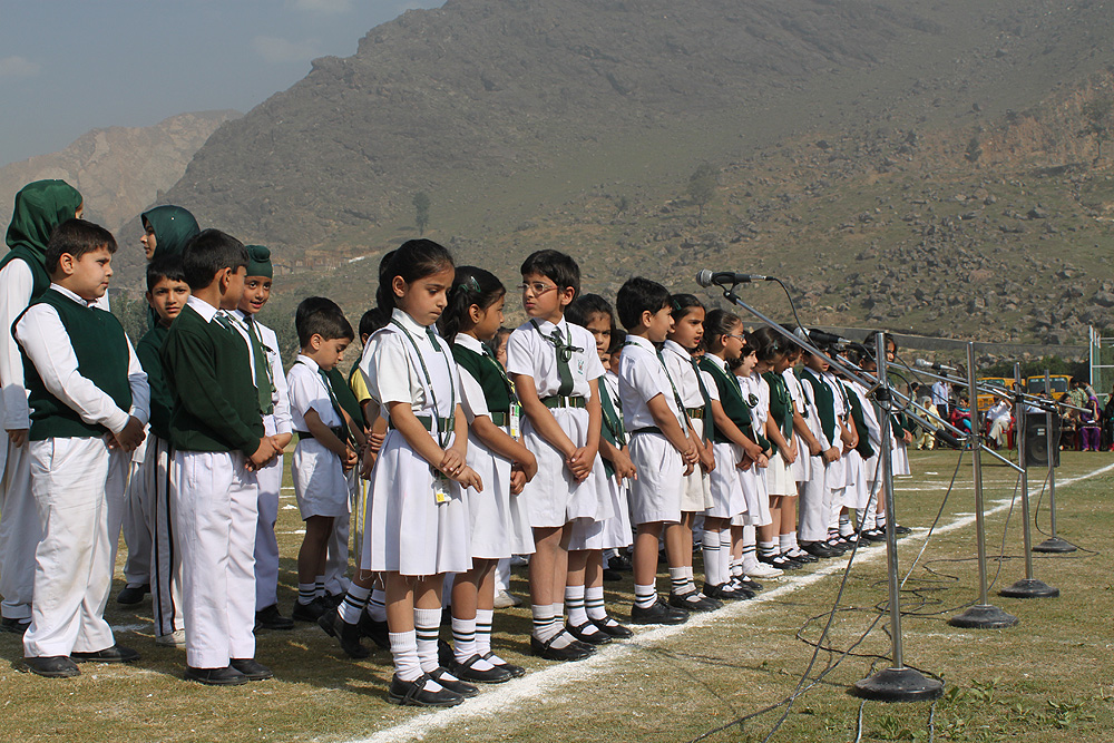 Students during prayer