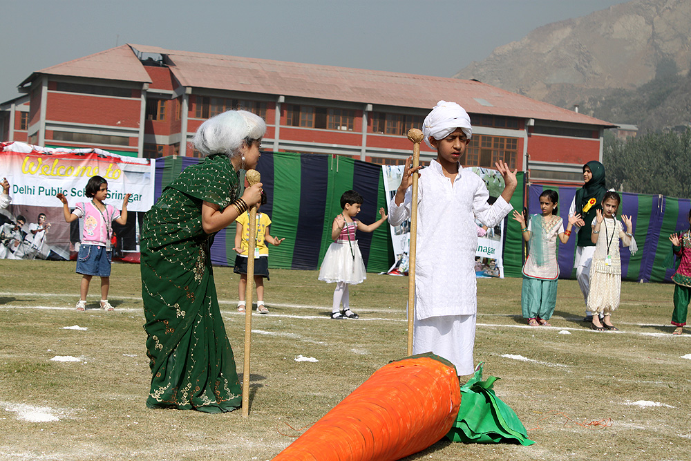 Students performing during the event