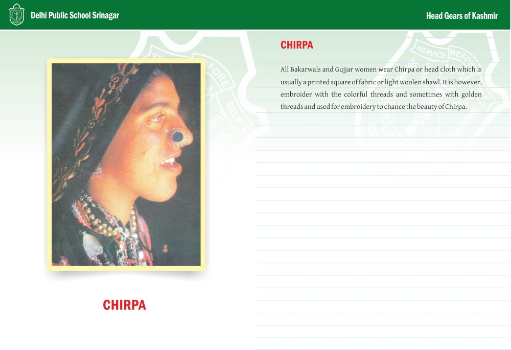 Chirpa - Head Gears of Kashmir Series